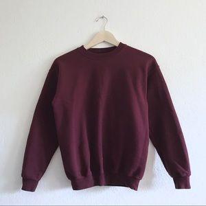 Burgundy maroon crewneck sweater